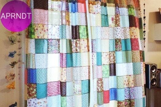 cortinas con patchwork