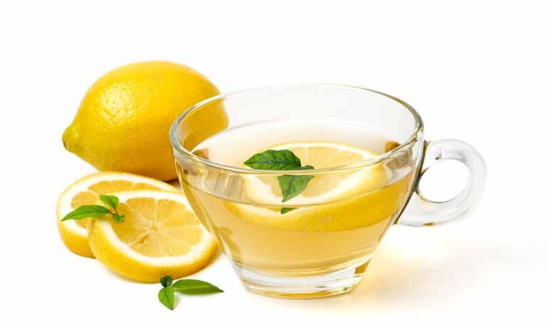 Te verde y limon para bajar de peso